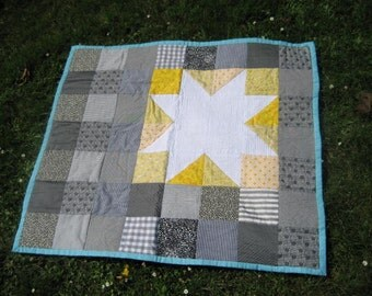 White Star Hand Sewn Quilt - Now less than half price
