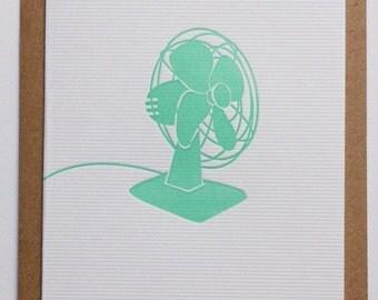 OH L'ÉTÉ / letterpress postcard handmade in Bordeaux