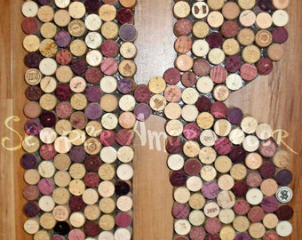 Wine Cork Letters, Custom Made A-Z, 18 Inch