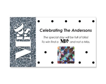 Mr. and Mrs. - Silver Wedding Scratch Off Game - 22 Personalized Game Cards