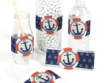 Ahoy - Nautical - Party Favor Wrappers - Party Supplies - 15 Count