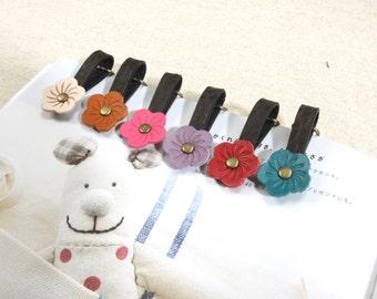 "0.9"" byhands 100% Genuine Leather Flower Zipper Ring"