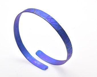 Anodized Titanium Bracelet, Cuff Bracelet, Titanium Bracelet, Purple Bracelet, Statement Jewelry, Bangle Bracelet, Giampouras Collections