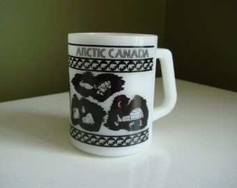 Vintage Federal Mug - Arctic Canada - Milk Glass Mug
