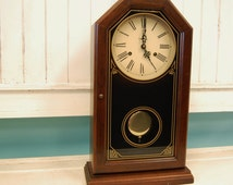Classic Ethan Allen Mantel Clock with Pendulum