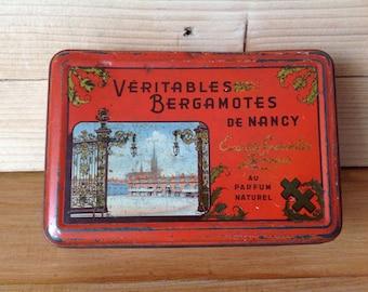 Vintage box real BERGAMOTS of NANCY 1950s