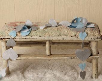 Felt Heart Garland (handmade, baby boy)