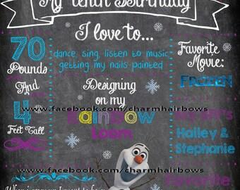 frozen chalkboard