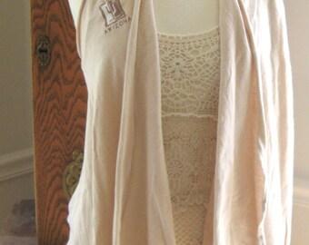 Creme Brule Re-purposed T shirt Wrap