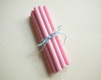 5 Pink Mini Hot Glue Stick for Strawberry Deco Sauce