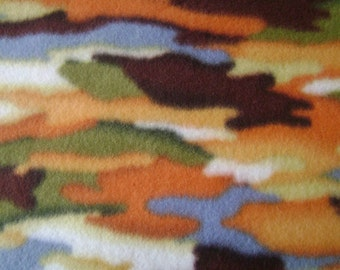 1.5 yards of Camouflage Anti Pill Fleece Fabric