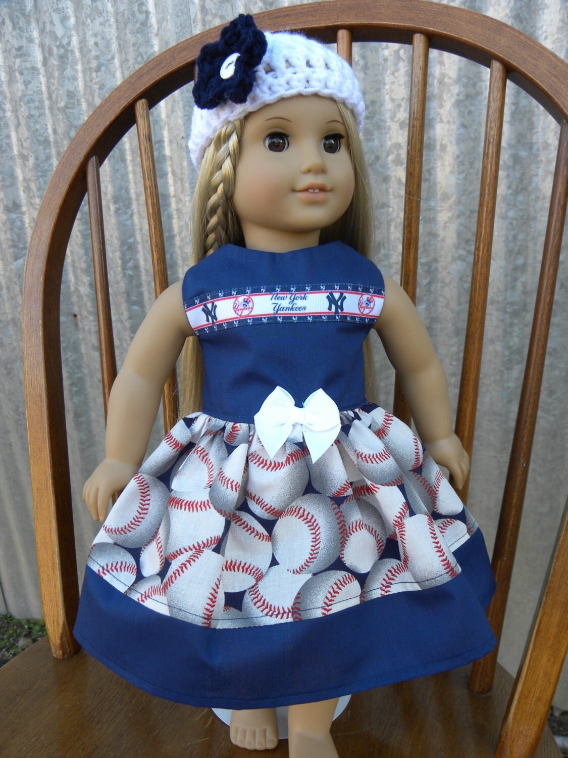 new york yankees american girl doll clothes by rhondacustomsewing. Black Bedroom Furniture Sets. Home Design Ideas
