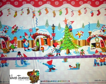 Holly Jolly Gnomes Single Border - Michael Miller - Cotton fabric - 1 yard
