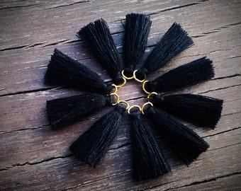 Hand made tassels. Black tassels 10 pieces.