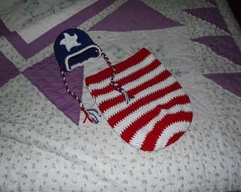 cocoon-photo prop- 4th of July-patriotic infant wear
