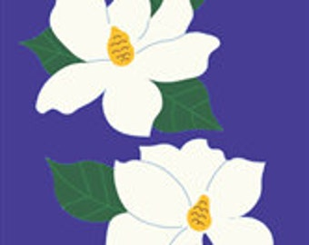 Magnolia Handcrafted Applique House Flag