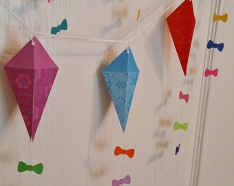 Kite Garland Mary Poppins Birthday Baby Shower