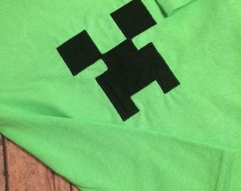 Mine-man creepy ( Minecraft inspired)  Onesie/Tshirt-Embroidered