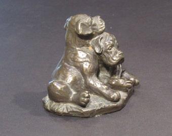 bronze pups vintage