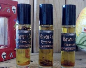 Conjure Oil Set - Run Devil Run, Reversal, and Uncrossing - Rollerballs