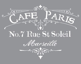 "12"" x 12"", Americana Decor-Stencils-Cafe Paris"