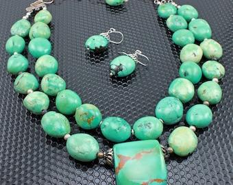 Southwestern Necklace,  Anthropologie Necklace, Statement Necklace, Statement Turquoise Necklace, #245-114