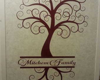 Personalized Family Tree Vinyl Wall Sticker Decal Design