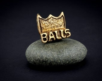 Brass Balls King Ring–Bronze