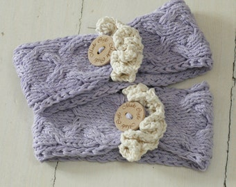 KNITTING PATTERN cable headwrap Bianca with ruffles and button (newborn, baby, toddler, kids, woman sizes)