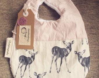 Fledglingbaby bib in oh deer (waterproof concealed inner)