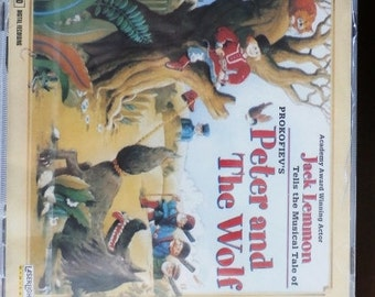 Peter and The Wolf , Prokofiev, Jack Lemmon Tells the Musical Tale,  CD, Classic music for Children, & The Toy Symphony
