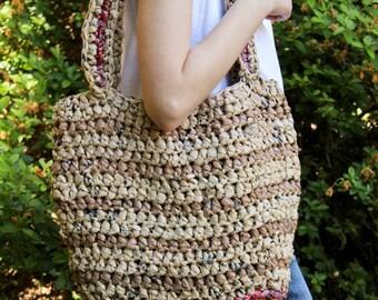 Handmade Plarn Market Bag