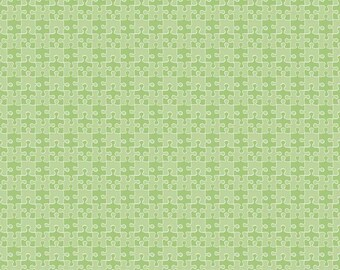 Riley Blake Pieces of Hope 2 Autism Awareness Fabric Puzzle Piece Green 1 Yard or 1/2 Yard