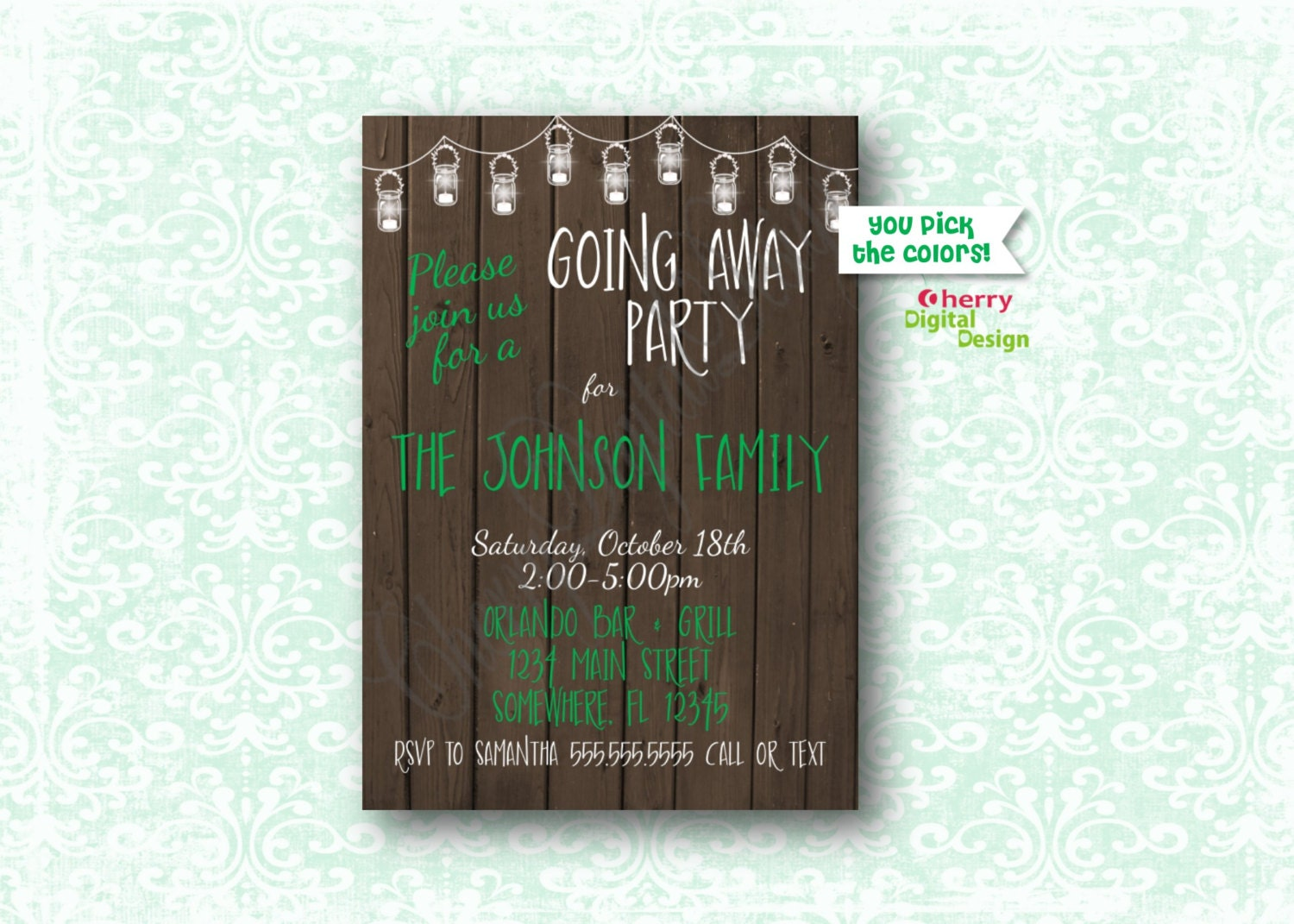 Going away party – Invitations for Going Away Party