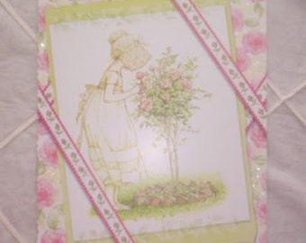 Vintage Holly Hobbie greeting card