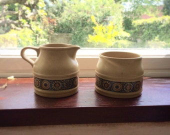 Kiln Craft Milk Jug & Sugar Bowl