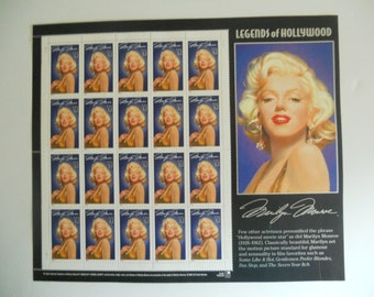 Legends of Hollywood Marilyn Monroe Stamps