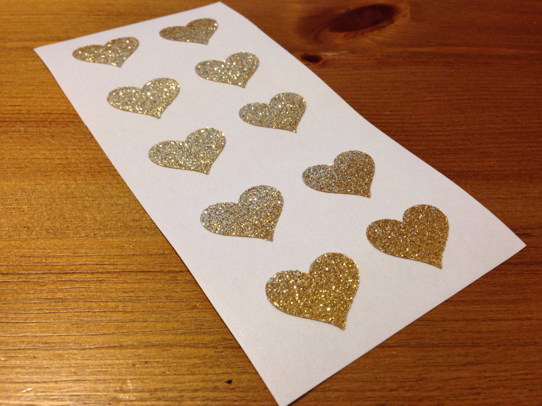 glitter envelope seals gold stickers heart wedding by