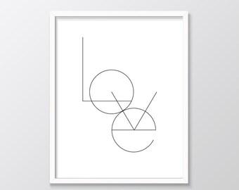 Love Printable Art,  Love Typographic Wall Art Print, Minimalist Printable Wall Art, Monochrome Wall Art