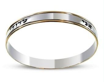 Ani L'Dodi Bangle Bracelet in Silver and Gold