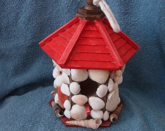 SALE*** Decorated Seashell Birdhouse