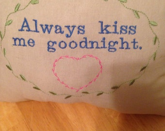 Goodnight Kiss Pillow