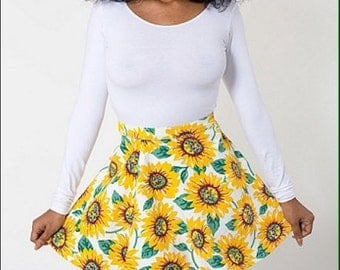 sunflower circle skirt. Size: Medium/Large
