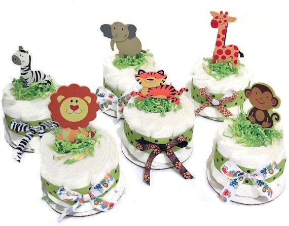 Jungle Themed Baby Gifts Uk : Jungle safari theme diaper cakes baby shower by
