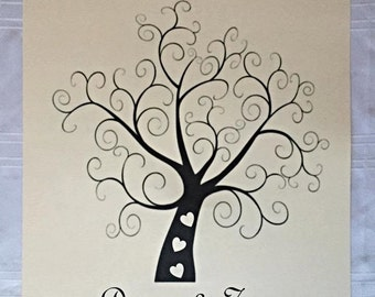 Personalised Wedding Fingerprint Tree, Great Guest Book Alternative.
