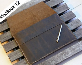 """D05 Macbook 12 sleeve made of Genuine leather,Air 11"""" 13"""",12"""",Pro 13"""" Retina, Pro 13"""", Pro 15"""", Macbook Air pro Sleeve, iPad Pro, Surface"""