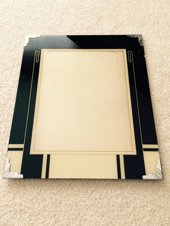 Vintage Art Deco Glass Picture Frame