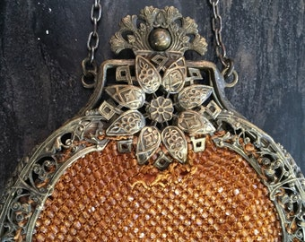 Carnival purse, georgeous vintage beads, frame is in excellent condition, needs replacement or repair of beaded portion