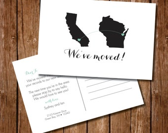 Printable We've Moved Postcard - Digital File
