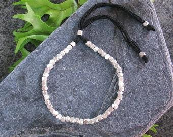 SALE 20% OFF  Silver Beaded Bracelet, Tribal Silver Bracelet, Boho Silver Bracelet, Beaded Bracelet, Bohemian Bracelet, Bohemian Jewelry